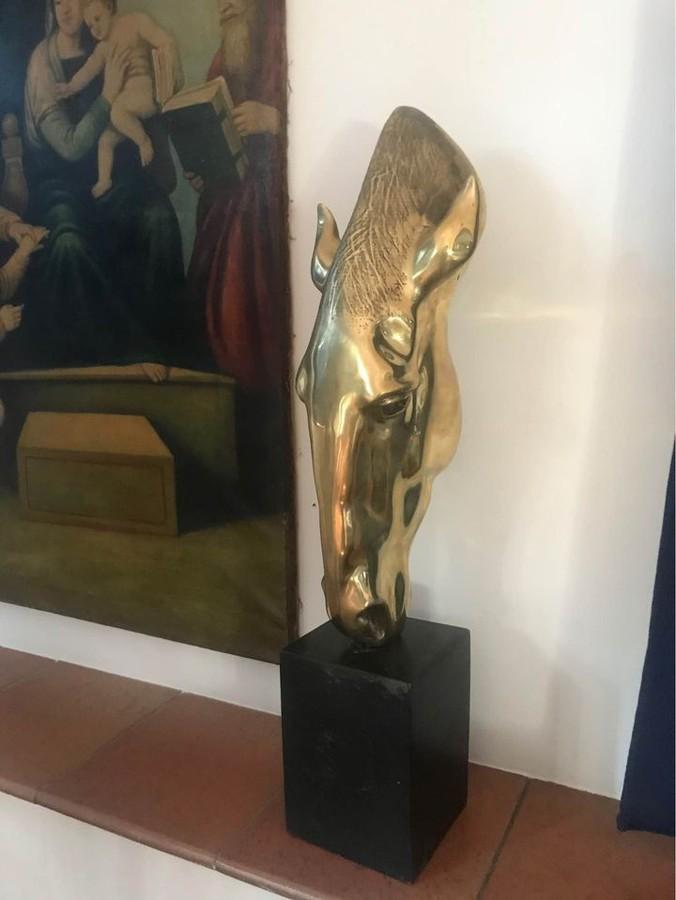 Vergoldete Bronzeskulptur