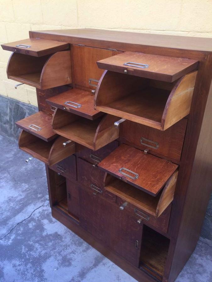 Vintage-Aktenschrank-50er