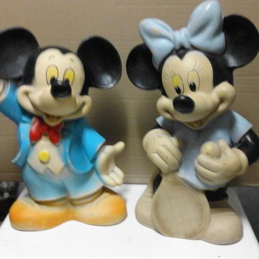 Vintage Mickey Mouse und Minnie