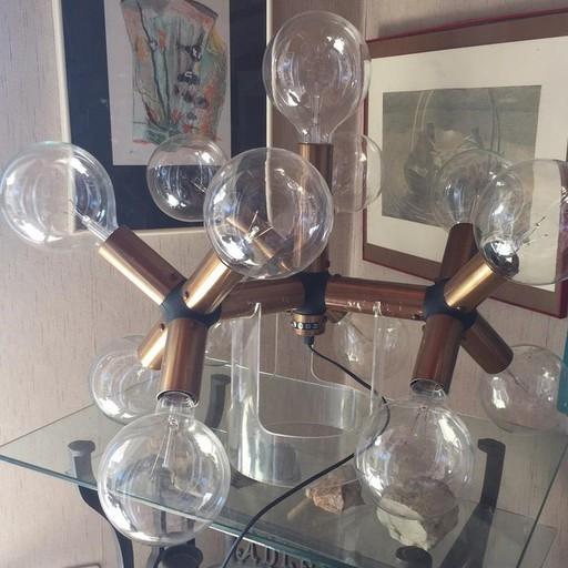 Vintage Tisch Atomic Lampe