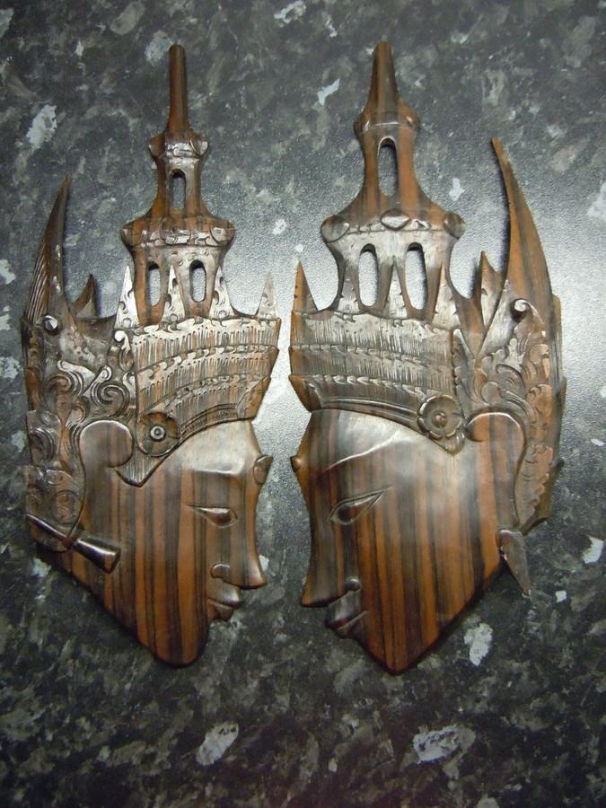Vintage Thai Holzköpfe