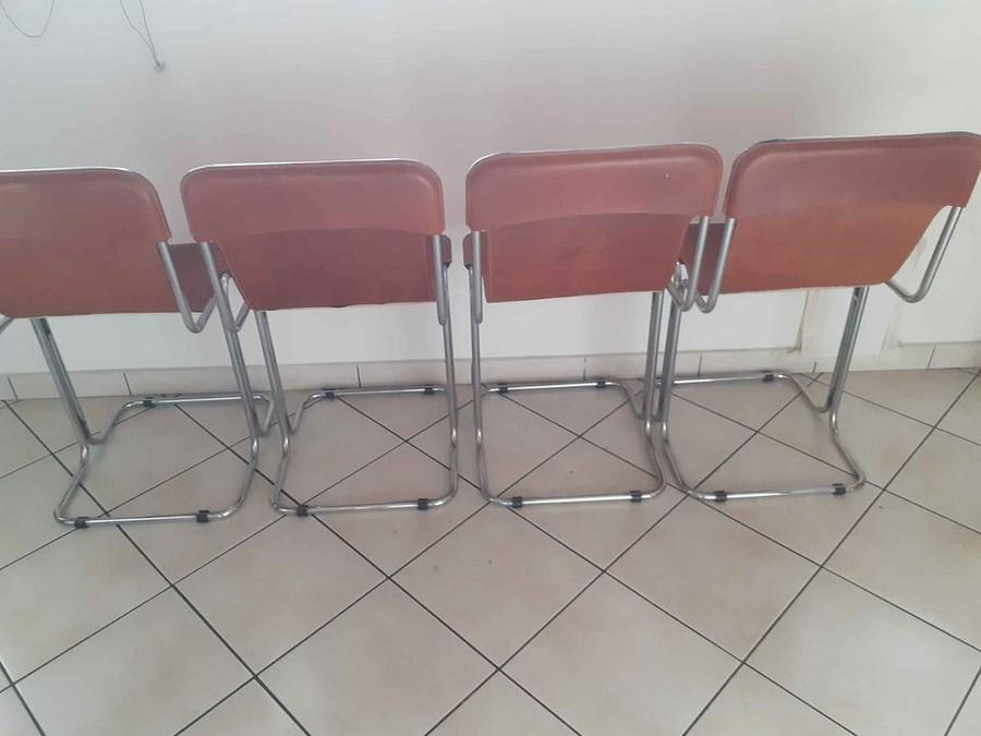 Vintage Leder Stuhlen 70er